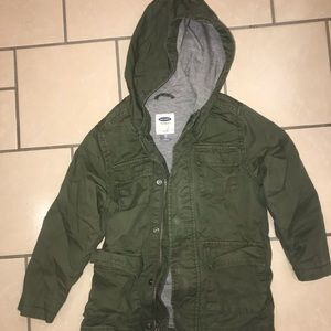 Boys 4t green hooded jacket Old Navy